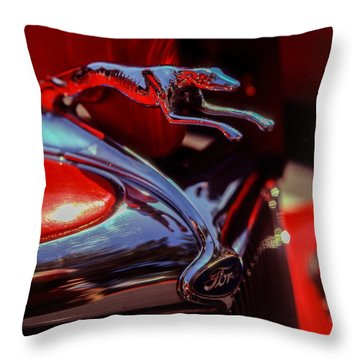 Ford Greyhound Throw Pillow