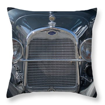 Ford Grill Throw Pillow