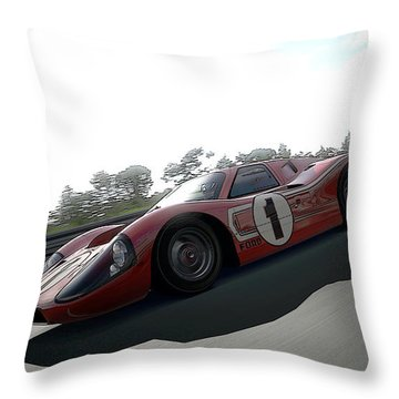 Ford Gt40 Mark Iv Throw Pillow
