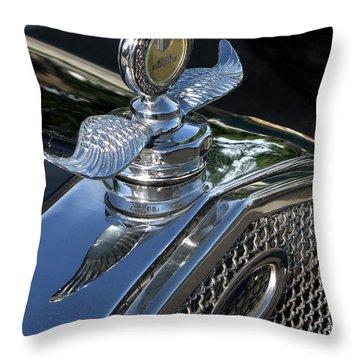 Ford Hood Emblem Throw Pillow by Peter Piatt