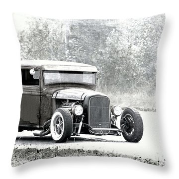 Ford Hot Rod Throw Pillow