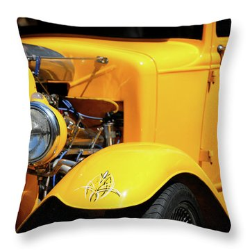 Throw Pillow featuring the photograph Ford Hot-rod by Jeremy Lavender Photography