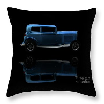 Ford Hot Rod Reflection Throw Pillow