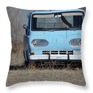 Ford Light Blue Throw Pillow by Renie Rutten
