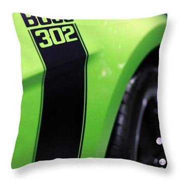 Ford Mustang - Boss 302 Throw Pillow by Gordon Dean II