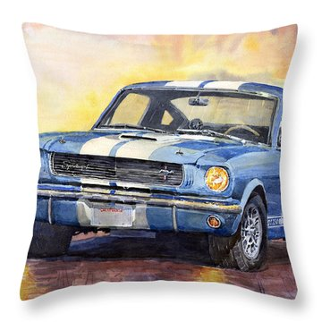 Ford Mustang Gt 350 1966 Throw Pillow