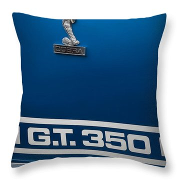 Ford Mustang G.t. 350 Cobra Throw Pillow