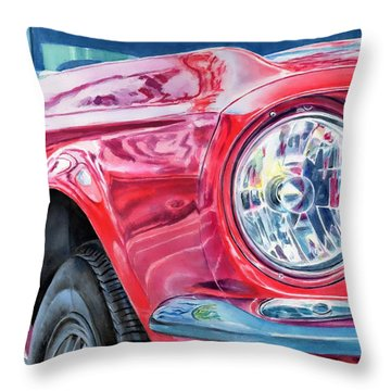 Throw Pillow featuring the painting Ford Mustang by John Neeve