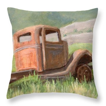 Ford On The Range Throw Pillow