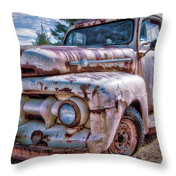 Ford Panel Truck Throw Pillow