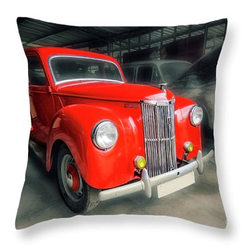 Throw Pillow featuring the photograph Ford Prefect by Charuhas Images