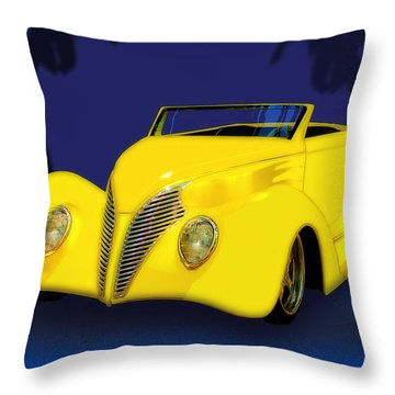 Ford Roadster 1937 In The Palms Throw Pillow