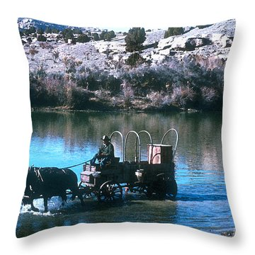 Ford The River Throw Pillow by Jerry McElroy
