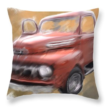 Ford Tough Throw Pillow by Davina Washington