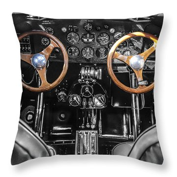 Ford Trimotor Cockpit Throw Pillow