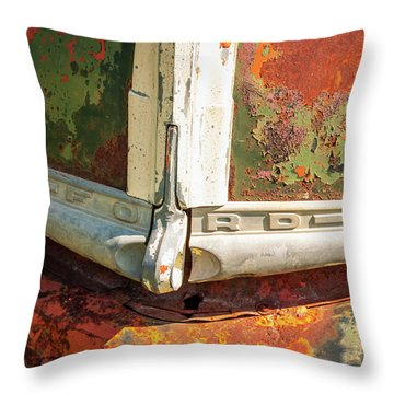 Throw Pillow featuring the photograph Ford Truck by Jeff Phillippi
