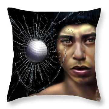 Fore-wood Throw Pillow by Reggie Duffie