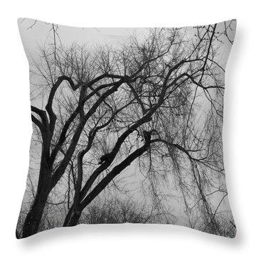 Foreboding Throw Pillow