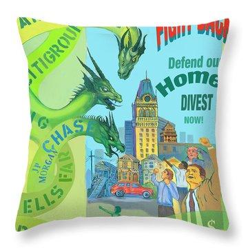 Foreclosure Throw Pillow
