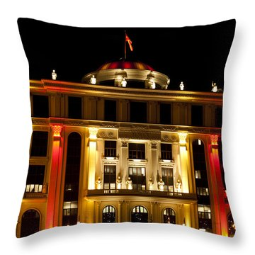Foreign Affairs Building Throw Pillow by Rae Tucker