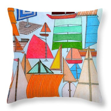Foresails Throw Pillow