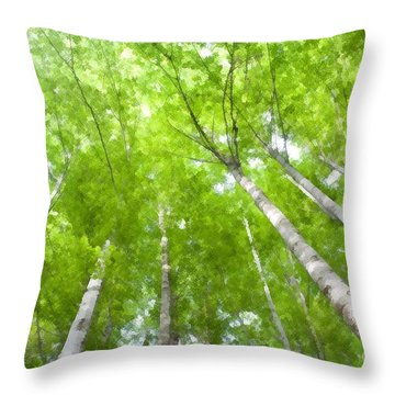 Throw Pillow featuring the photograph Forest 1 by Jean Bernard Roussilhe