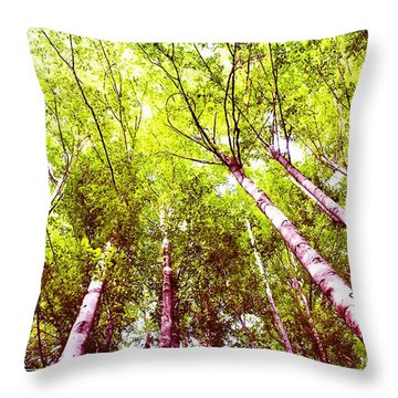 Throw Pillow featuring the photograph Forest 2 by Jean Bernard Roussilhe