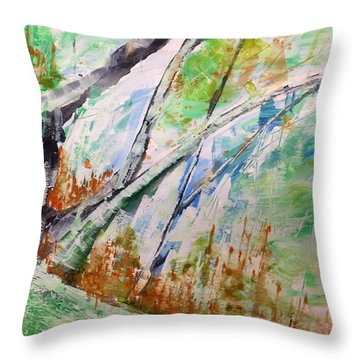 Forest Abstract - Hillside No.1 Throw Pillow