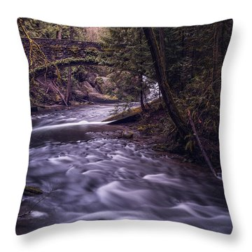 Forrest Bridge Throw Pillow by Chris McKenna