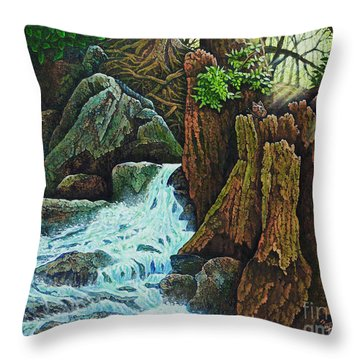 Forest Brook IIi Throw Pillow