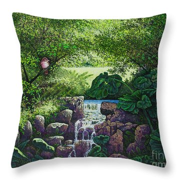 Forest Brook Iv Throw Pillow