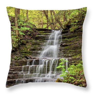Forest Cascade Throw Pillow