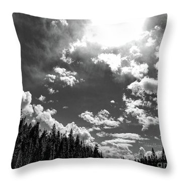 A New Day, Black And White Throw Pillow