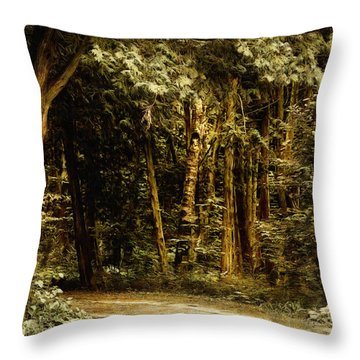 Forest Curve Throw Pillow