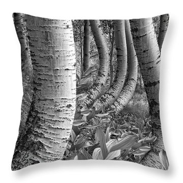Forest Curves Throw Pillow