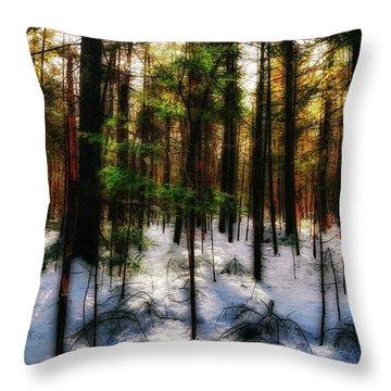 Forest Dawn Throw Pillow