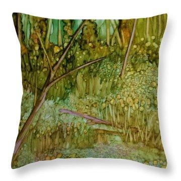 Forest Deep Throw Pillow