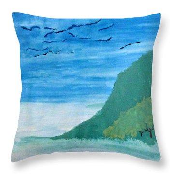 Forest Edge Throw Pillow