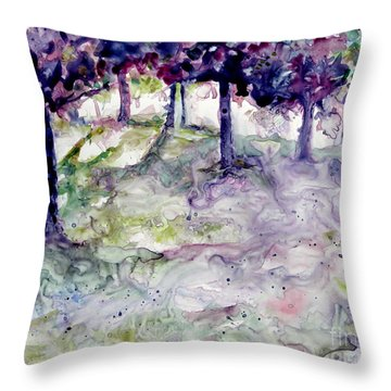 Forest Fantasy Throw Pillow by Jan Bennicoff