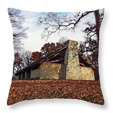 Forest Field House 3 Throw Pillow by Cedric Hampton