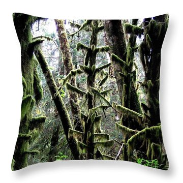 Forest Finery Throw Pillow by Will Borden