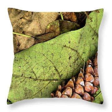 Forest Floor Still Life Throw Pillow