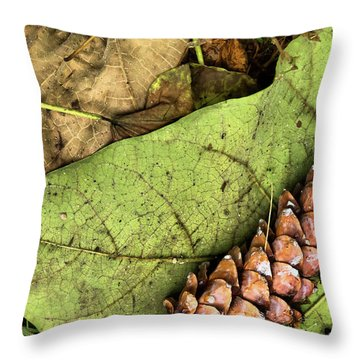 Forest Floor Still Life Throw Pillow