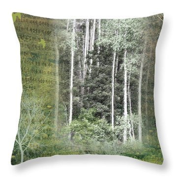 Forest For The Trees Throw Pillow by Nadine Berg