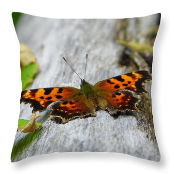 Forest Fritillary Throw Pillow