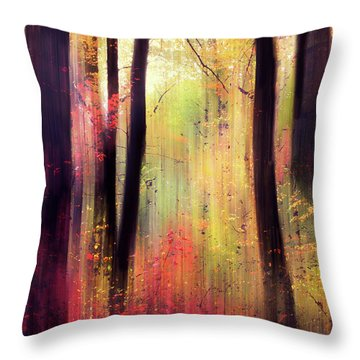Throw Pillow featuring the photograph Forest Frolic by Jessica Jenney