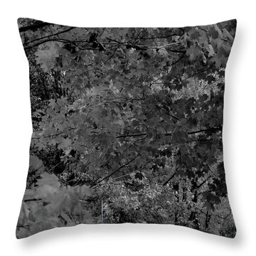 Forest Hut Throw Pillow