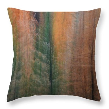 Forest Illusion- Autumn Born Throw Pillow