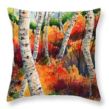 Forest In Color Throw Pillow