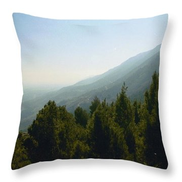 Forest In Israel Throw Pillow by Gail Kent
